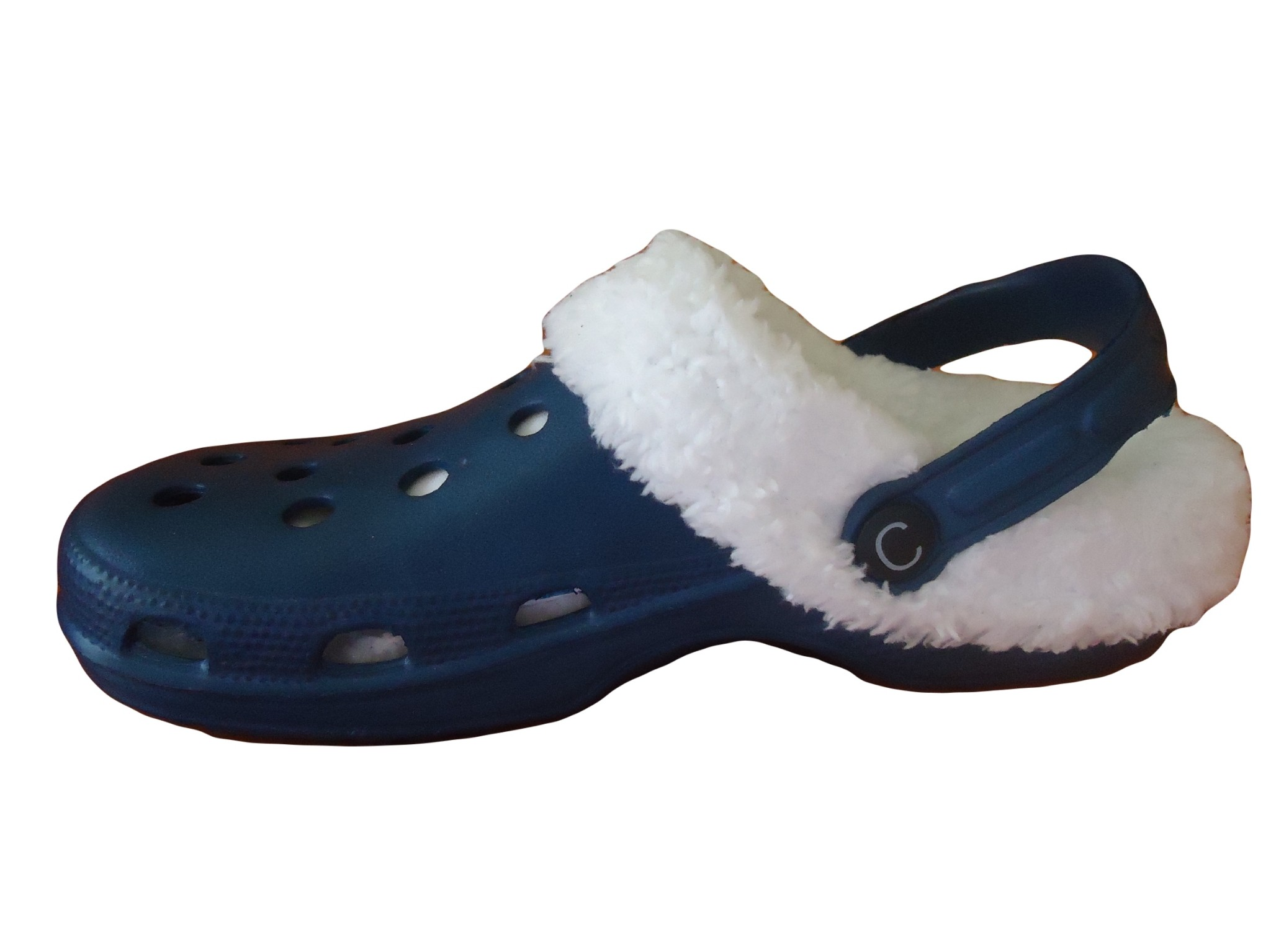 a4b27d8cb534eb ... Boys Navy Blue Clogs Childrens Fur Lined Slippers Cloggis Shoes