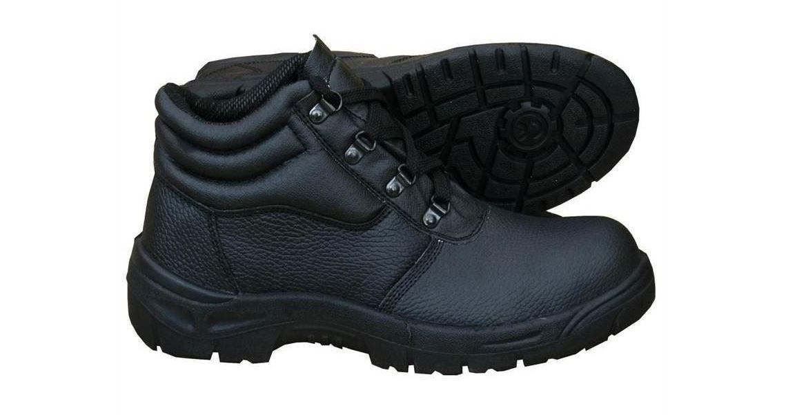 1b710151213 Chukka Safety Work Boots Leather Steel Toe Cap & Midsole