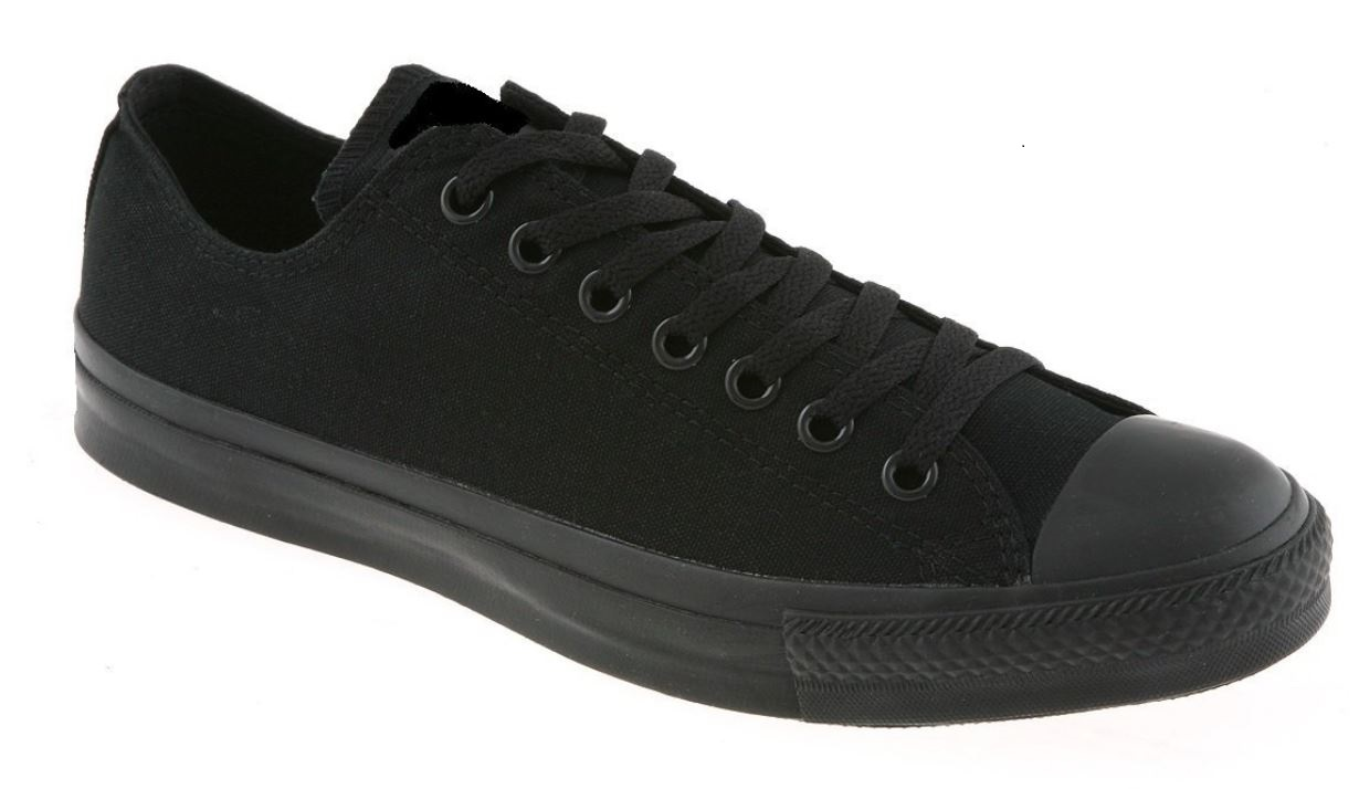 c67a24001b Canvas Lace Up Shoes Trainers Plimsolls Low Top Black Baseball Pumps