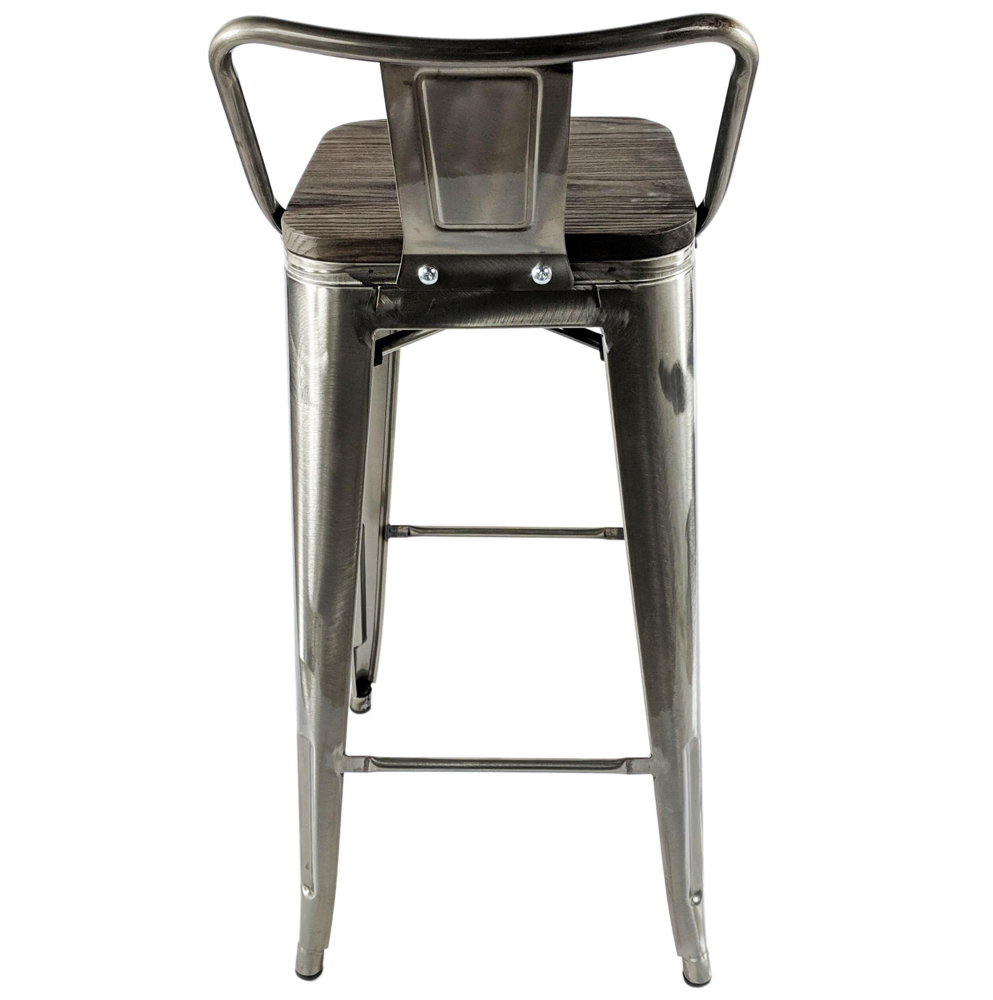 Superb Stools Breakfast Bars Tolix Brushed Steel Metal Bar Stool Ibusinesslaw Wood Chair Design Ideas Ibusinesslaworg