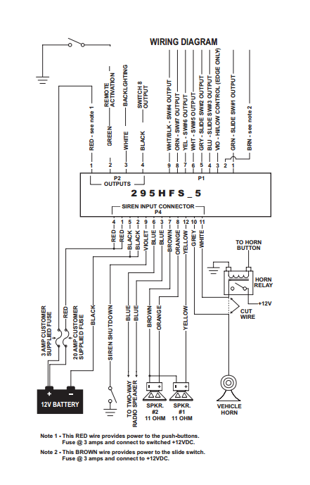 Whelen Power Supply Wiring Diagram : Whelen hfsm and pin wiring cable kit