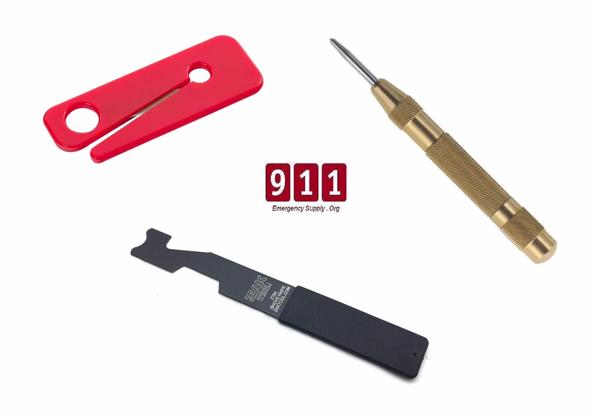 Firefighting Tool Kit Shove Knife Brass Window Punch Seat
