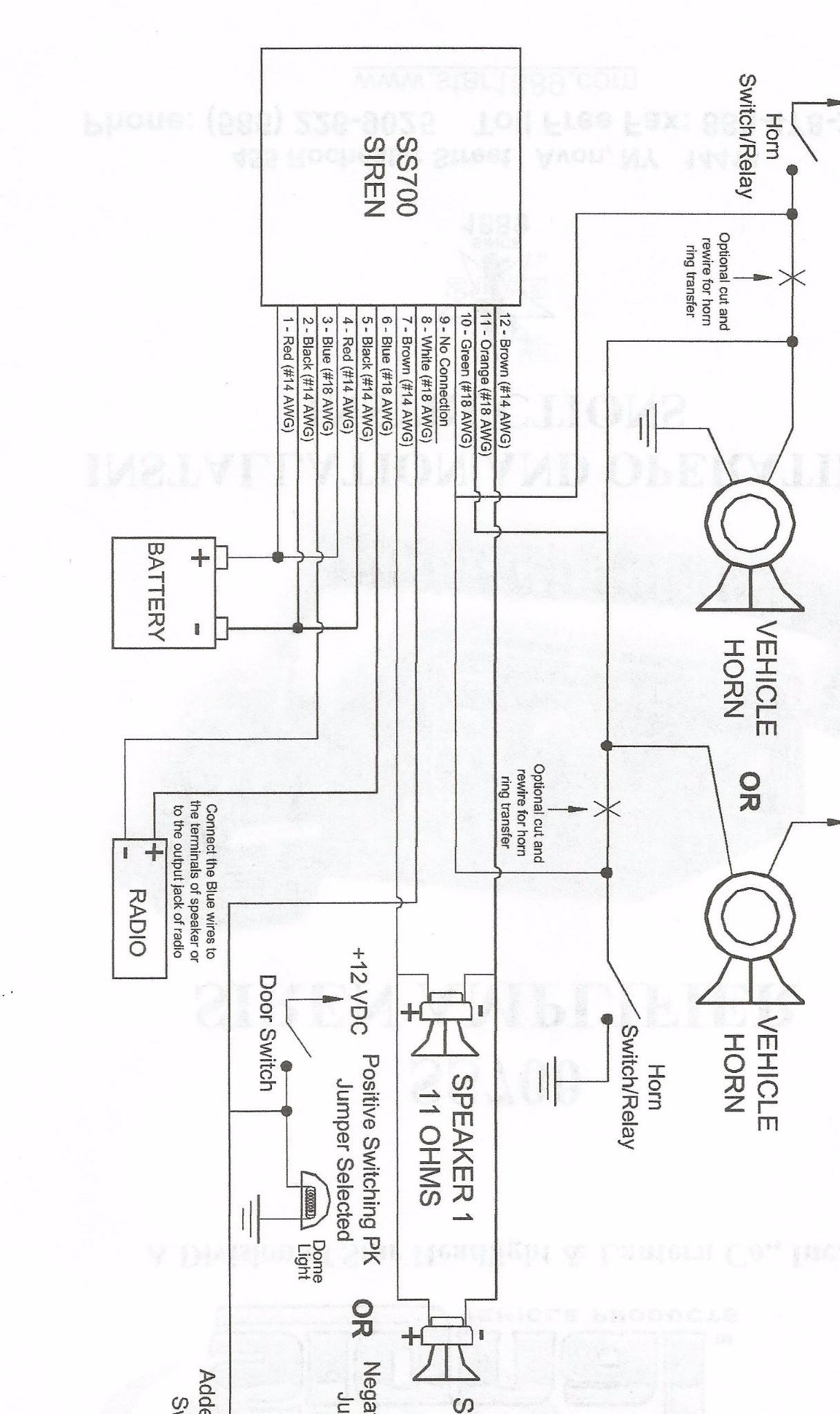 Signal Vehicle Products Siren Wiring Diagram Online Schematic Wiring  Speakers In Series Siren Speakers Wiring Diagram For 2