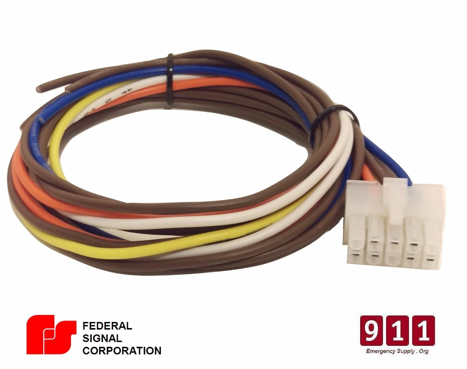 Federal Signal Siren Power Harness 10 Pin Cable PA300 690002 on