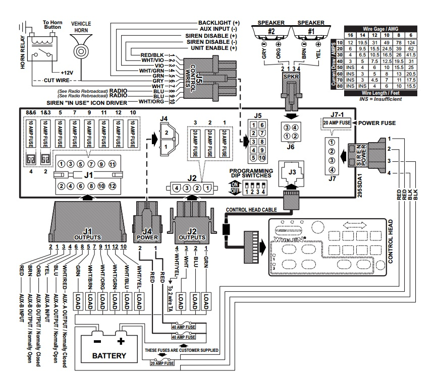 whelen siren control box wiring diagram