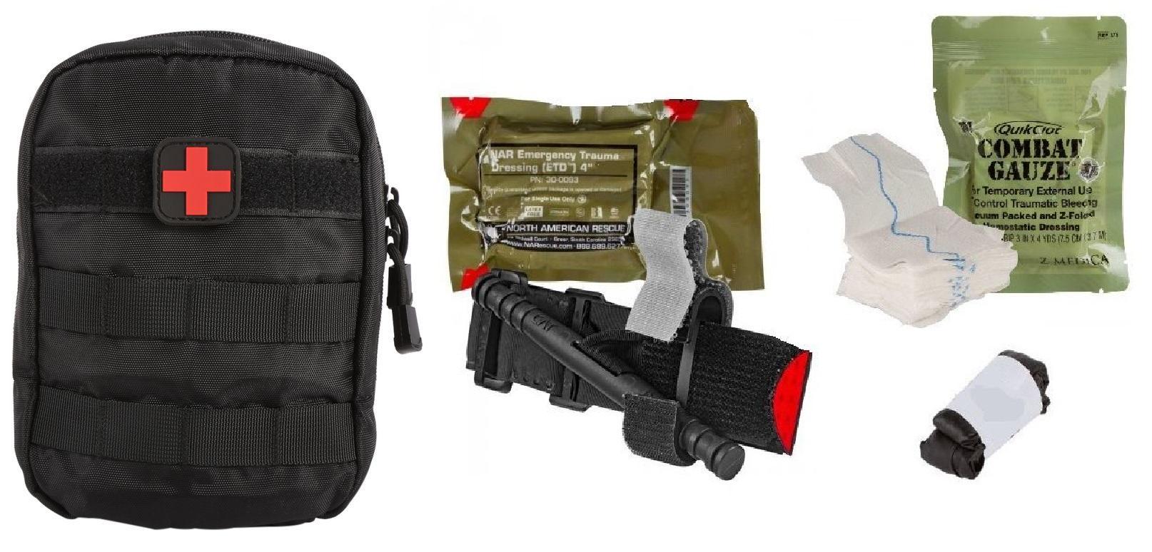 Individual Patrol Officer Kit IPOK with Molle Bag & Combat Gauze