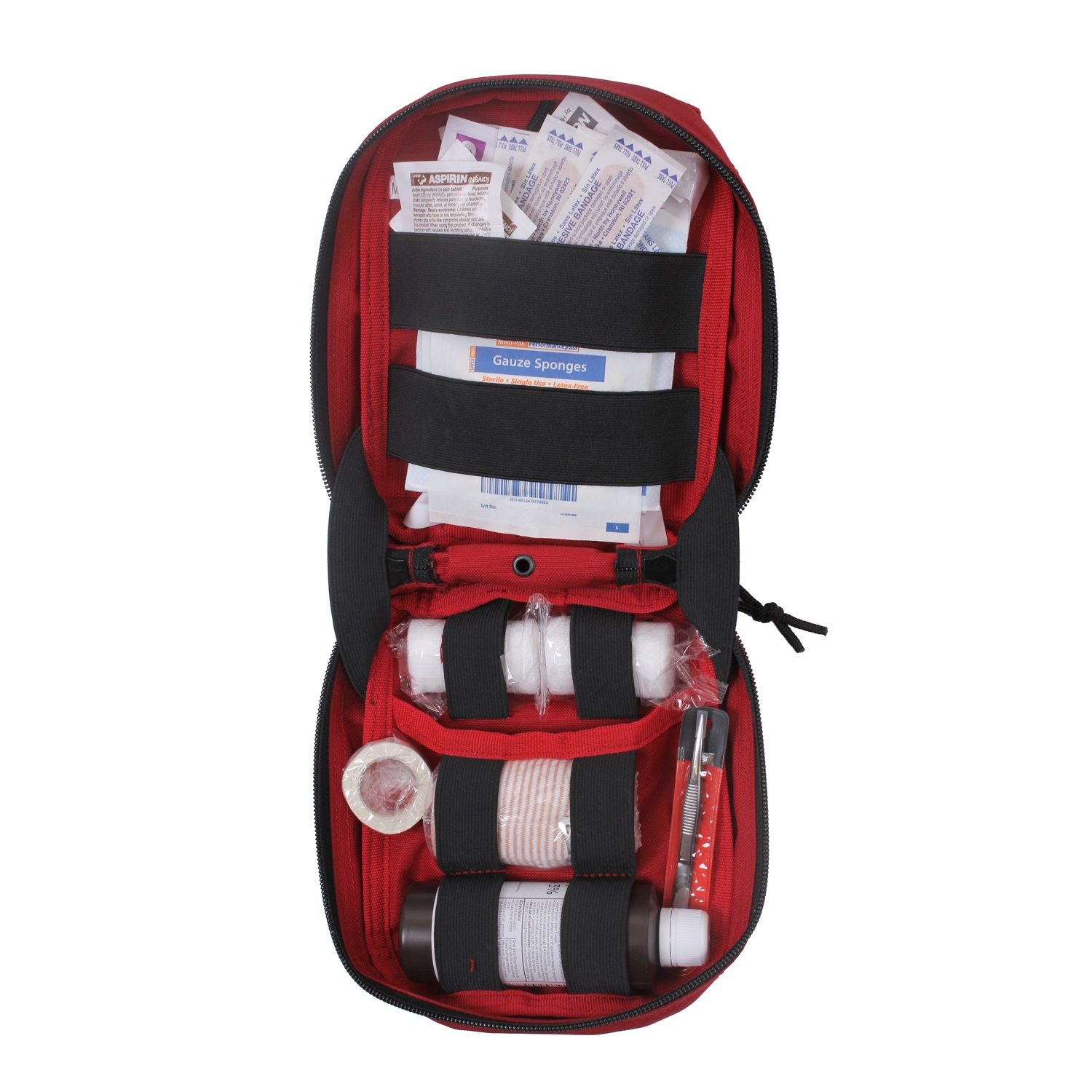 tactical trauma first aid kit pouch red