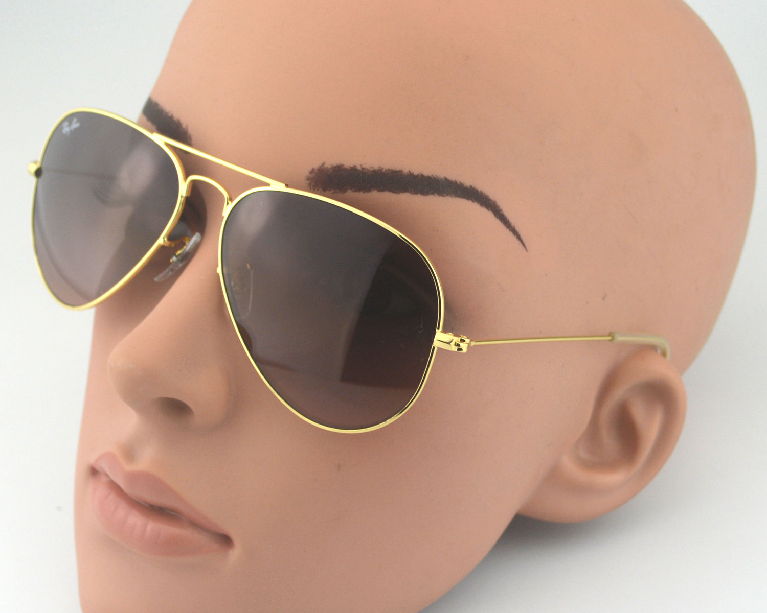 2139828aa5a Ray Ban RB3025 Aviator 001 3E Gold Gradual Brown-Pink Silver Mirror Glass  Lens Unisex Sunglasses 58mm