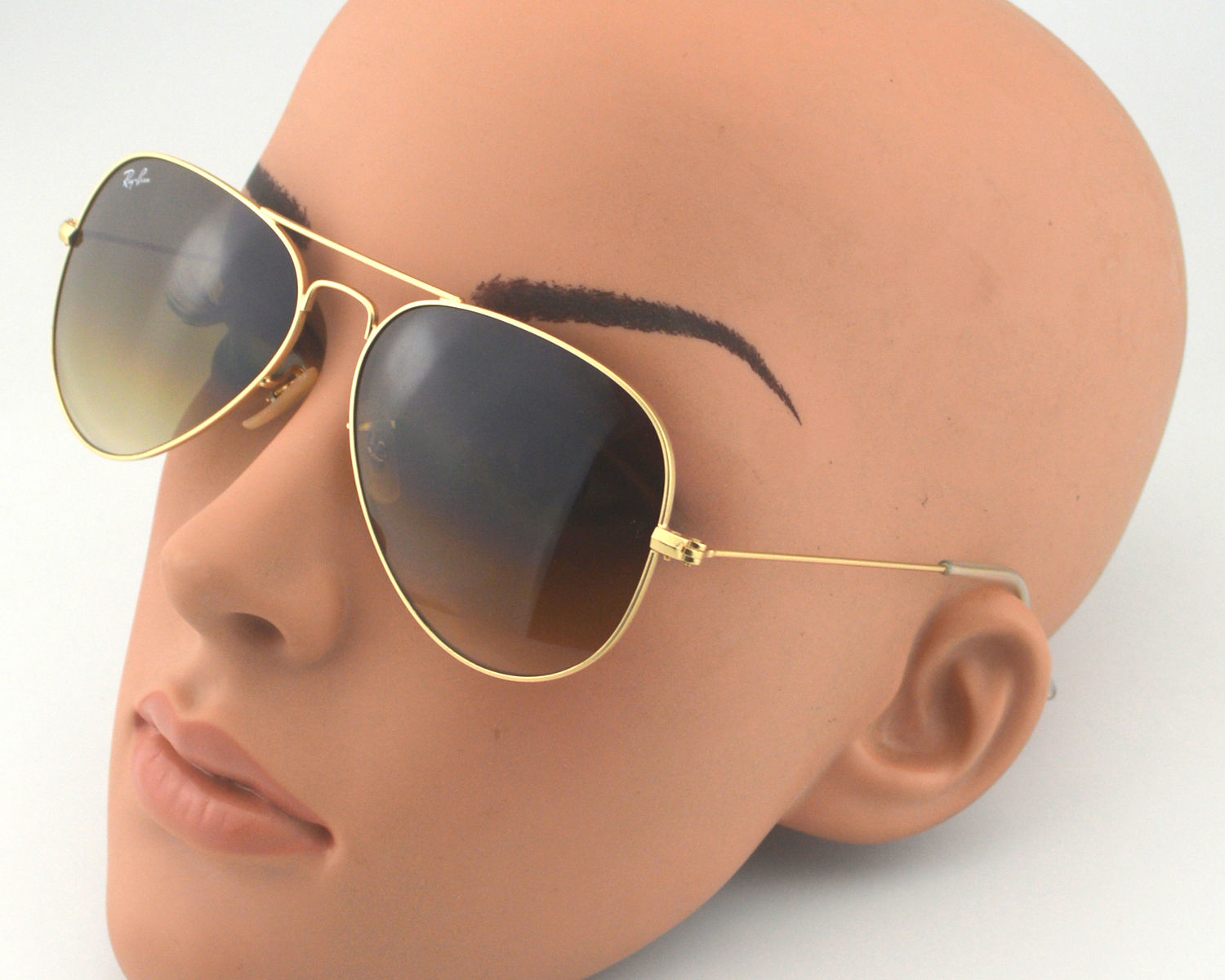 79ad64a5c48 Ray Ban RB3025 Aviator Brown Gradient 112 85 Gold Brown Gradient Glass Lens  Unisex Sunglasses 58mm