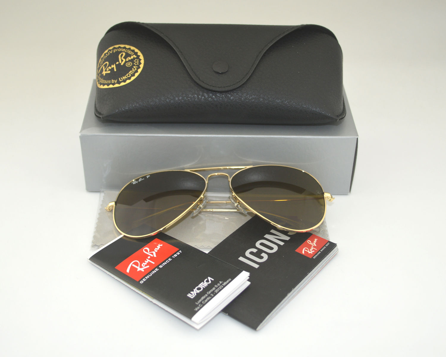 fa4d5d639f Ray Ban RB3025 Aviator Classic 001 57 Gold Polarized Brown Classic Glass  Lens Unisex Sunglasses 58mm