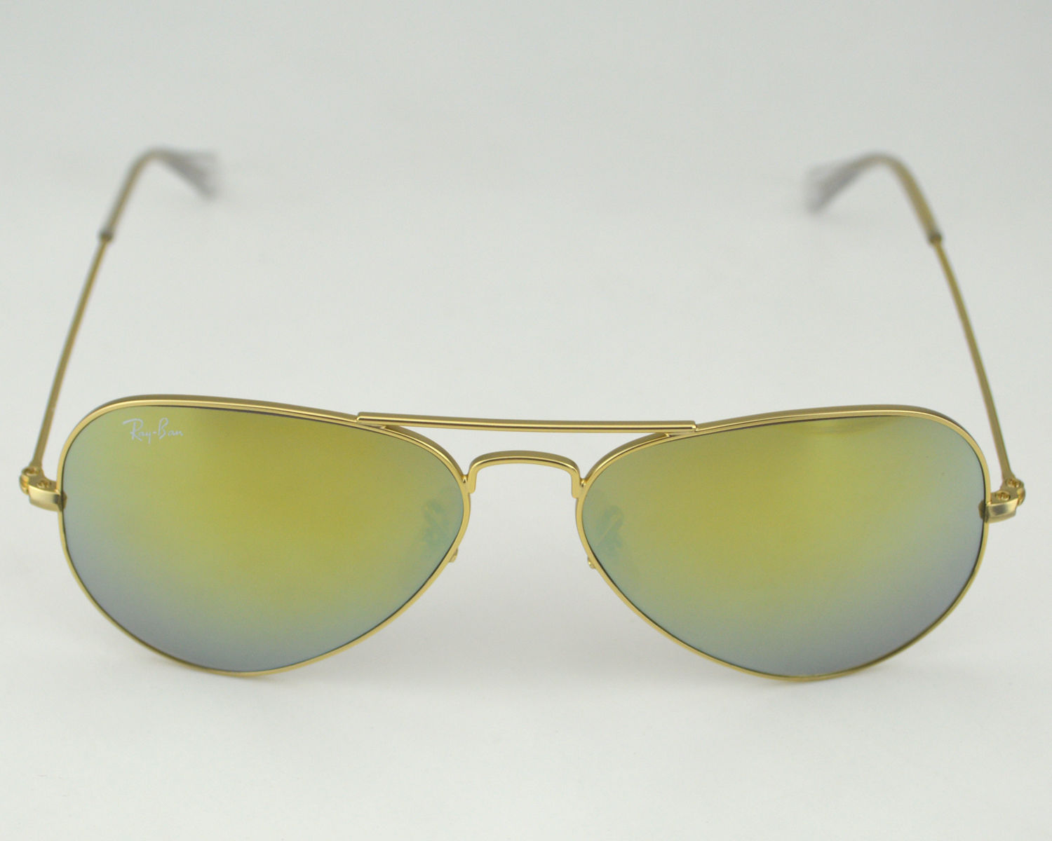 3437f6898a407 Ray Ban RB 3025 Aviator Flash Lenses 112 93 Gold  Gold Yellow Flash Glass  Lens Unisex Sunglasses 58mm
