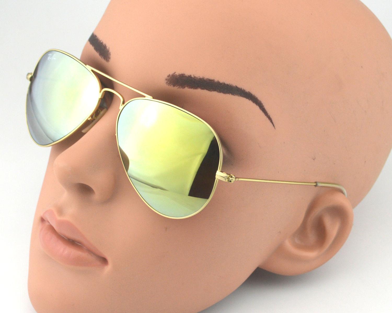 dabb1f0d01b ... wholesale ray ban rb 3025 aviator flash lenses 112 93 gold gold yellow  flash glass lens