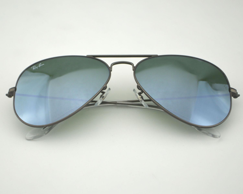 d8c0691c1b Ray Ban RB 3025 Aviator 029 30 Gunmetal Silver mirror Glass Lens Unisex  Sunglasses 58mm