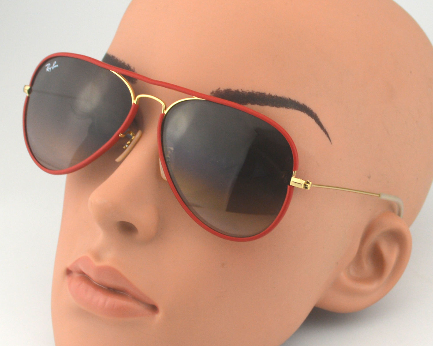 2cd8f892297 Ray Ban RB 3025JM Aviator Full Color 001 X3 Gold Brown pink Gradient Glass  Lens Unisex Sunglasses 58mm