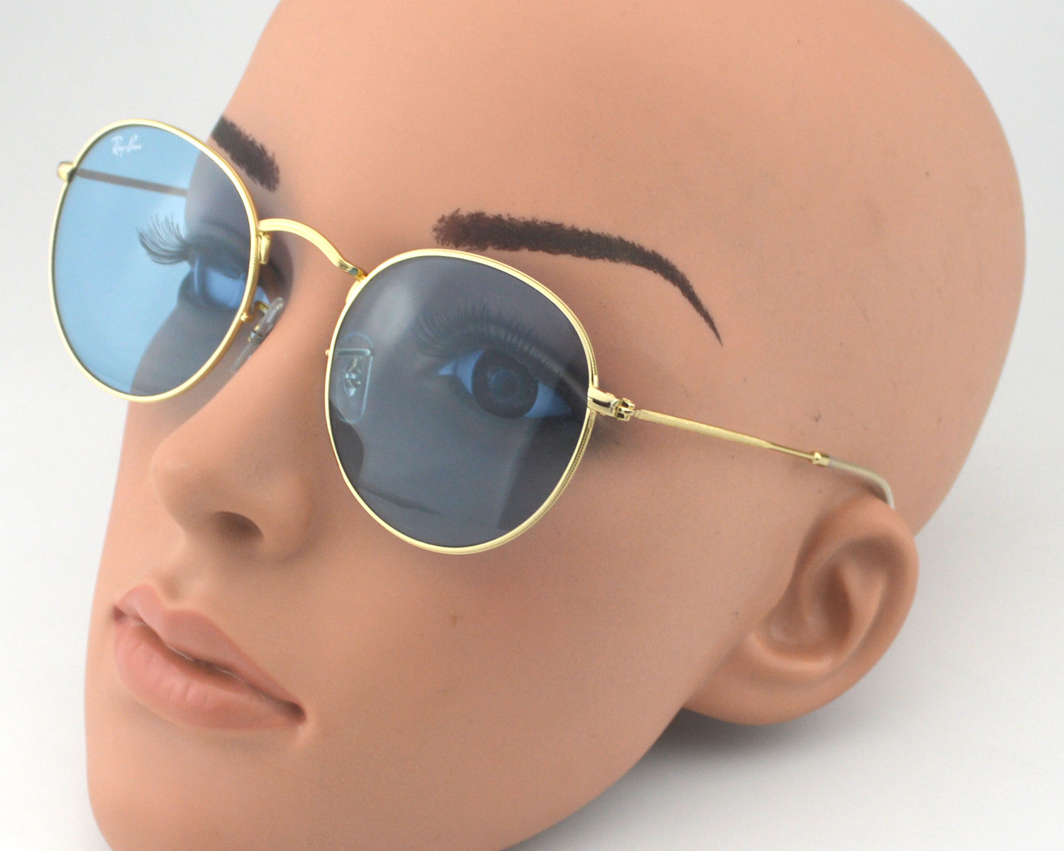 837945644b6 Ray Ban RB 3447 Round Metal 001 62 Gold .Blue Legend Glass Lens Unisex  Sunglasses 50mm