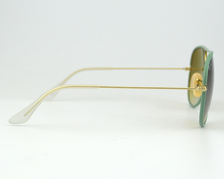 71a31b49feb Ray Ban RB 3025JM Aviator Full Color 001 3M Green Gradient Lens Unisex  Sunglasses 58mm