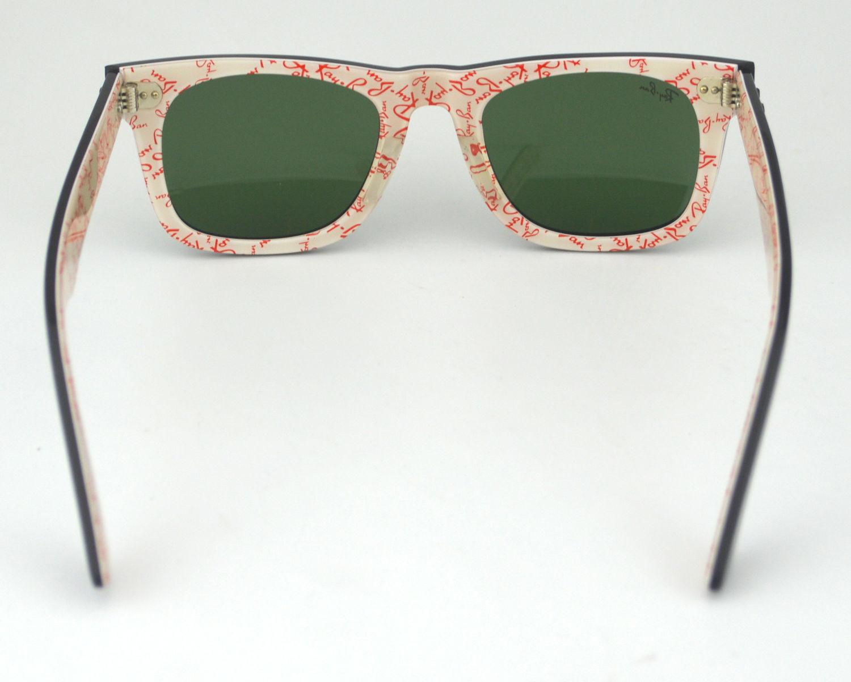 4cff0035af Ray-Ban RB2140 Wayfarer 1017 Black  Classic Green G-15 Lens Unisex  Sunglasses