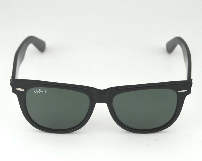 1a3e2ce3632 ... lens unisex sunglasses rb2140 d3e31 d2422  free shipping ray ban rb2140  901 58 original wayfarer classics black frame polarized green classic g