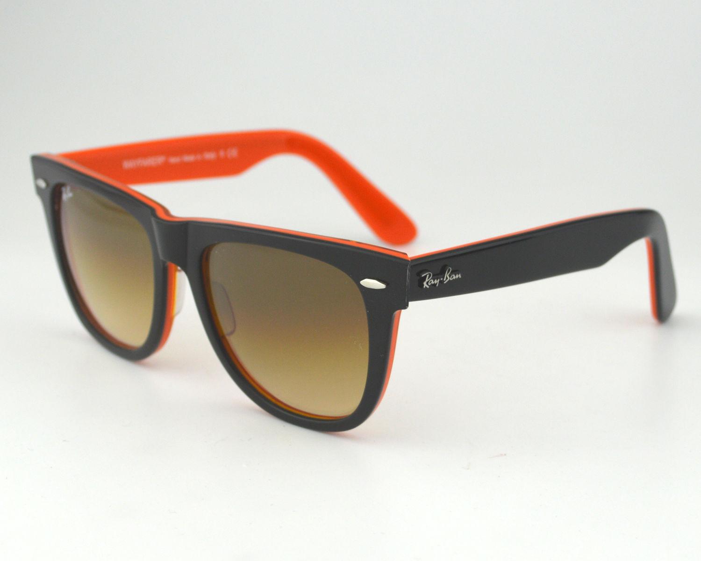 4df19f1d0e Ray Ban RB 2140 1002 51 Original Wayfarer Rare Prints Red-Black Brown  Gradient Glass Lens Sunglasses 54mm