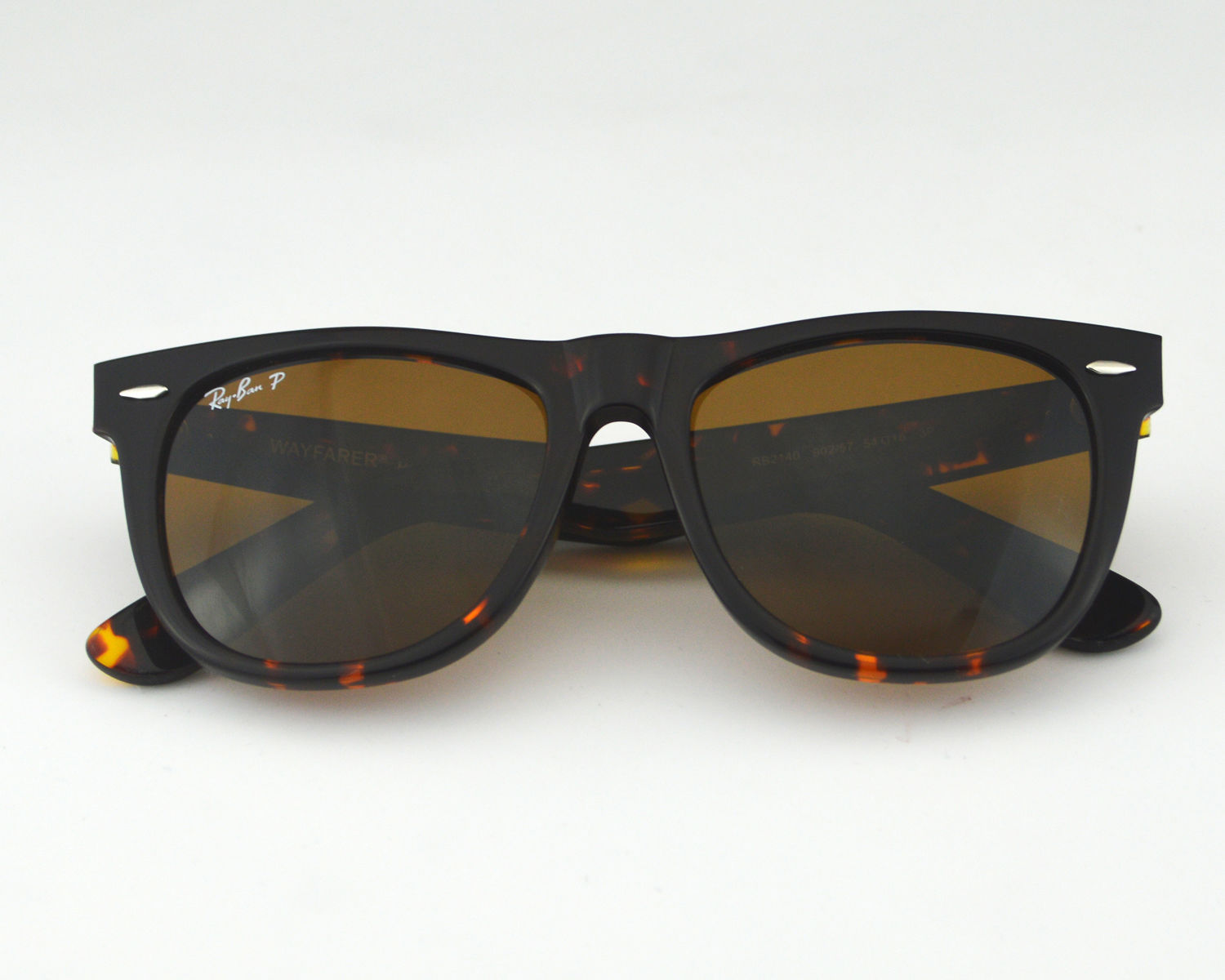 a6a3c824ad Ray Ban RB2140 Original Wayfarer Classics 902 57 Tortoise frame  Polarized  Brown Classic B-15 Lenses Unisex Sunglasses 54mm