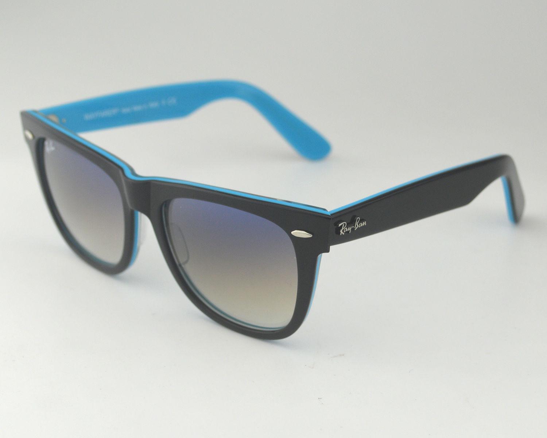acfc00d1451 Ray Ban RB 2140 Original Wayfarer Rare Prints 1001 3F Black Light Blue  Gradient Lens Unisex Sunglasses 54mm