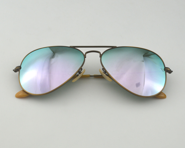 ac95c0b7358 Ray Ban RB 3025 Aviator Flash Lenses 167 4K Bronze-Copper  Lilac Mirror  Glass Lens Unisex Sunglasses 58mm