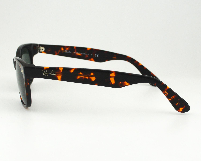 cc5ffcbea11e Ray Ban RB 2132 New Wayfarer Classic 902 Tortoise  Green Classic G-15 Glass  Lens Unisex Sunglasses 55mm