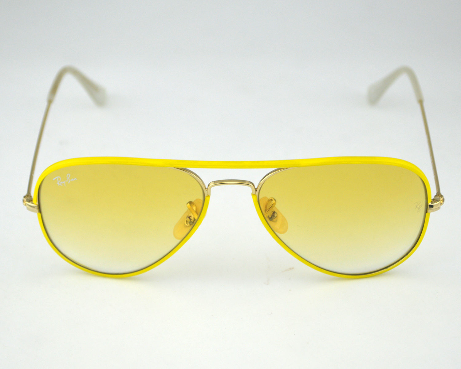 a1a984f5e24 Ray Ban RB 3025JM Aviator Full Color 001 X4 Yellow Ambermatic Glass Lens  Unisex Sunglasses 55mm