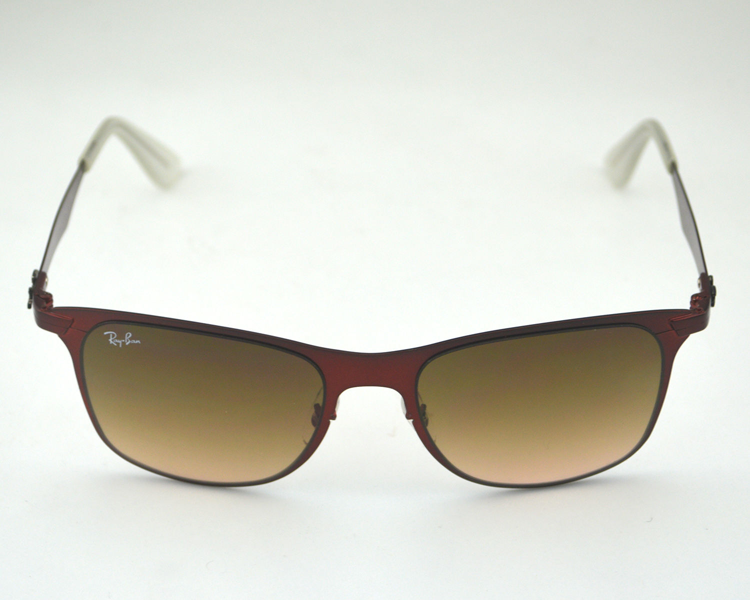 deafa08cf3 Ray Ban RB3521 Wayfarer Flat Metal 162 13 Red  Brown Gradient Lens  Sunglasses 52mm