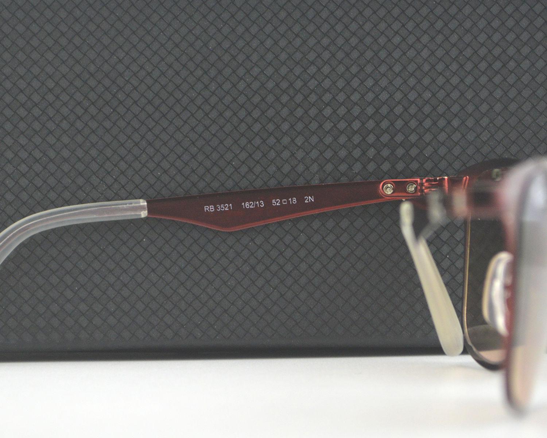 5b6f3b9075d Ray Ban RB3521 Wayfarer Flat Metal 162 13 Red  Brown Gradient Lens Sunglasses  52mm