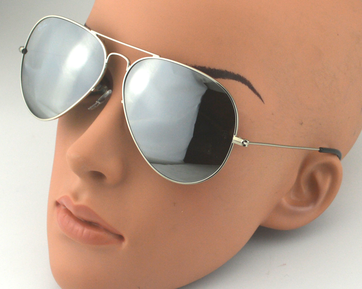 52560c77e9523 Ray Ban RB3026 Aviator Large Metal ⅡW3277 Silver Mirror Lens Sunglasses 62mm