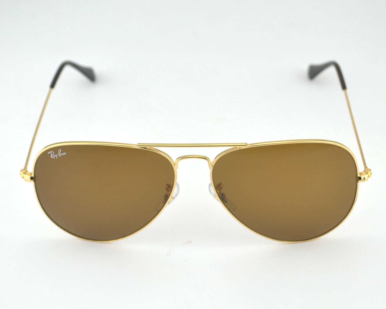 7ad320de4a4 Ray Ban RB3026 Aviator Large Metal 001 33 Brown Classic B-15 Lens Sunglasses  62mm