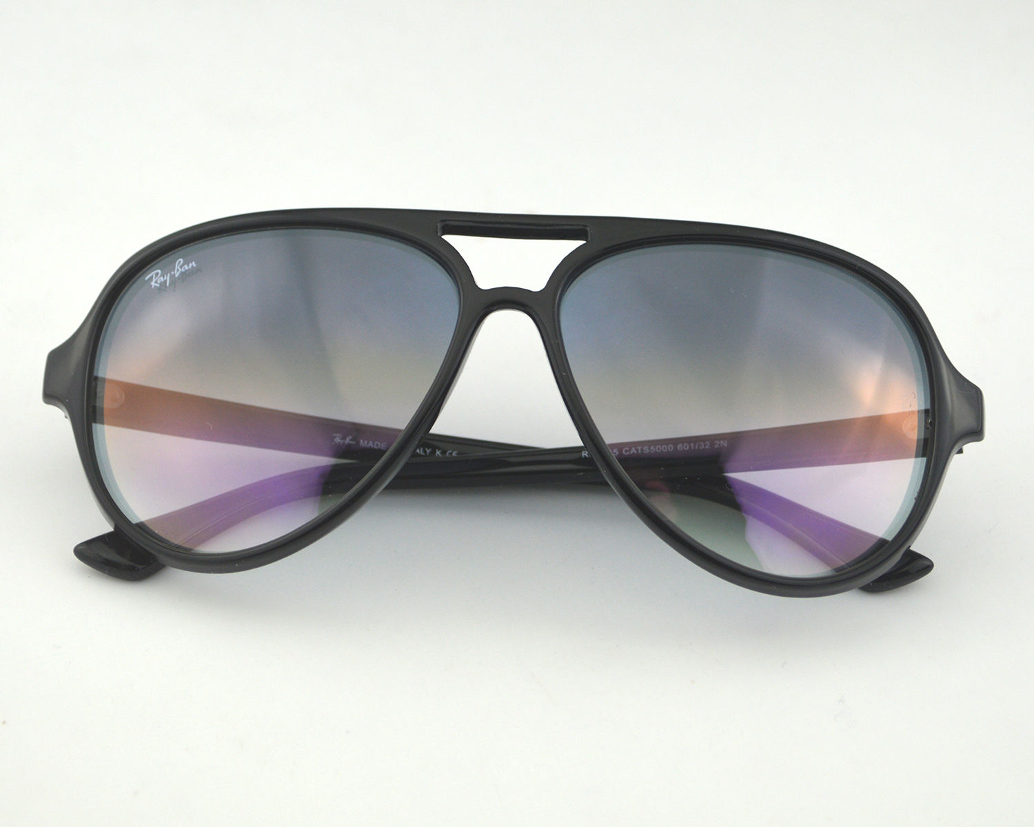 0d1498d65be Ray Ban RB 4125 Cats 5000 Classic 601 32 Black   Light Grey Gradient Glass  Lens Unisex Sunglasses 59mm