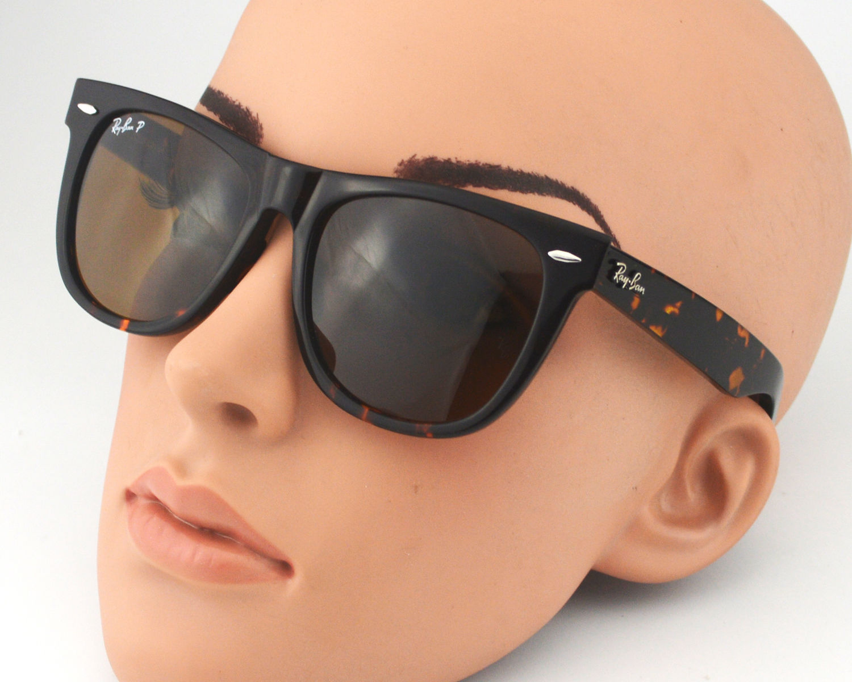 98844d39484ca Ray Ban RB2140 Original Wayfarer Classics 902 57 Tortoise Frame  Polarized  Brown Classic B-15 Lenses Sunglasses 50mm