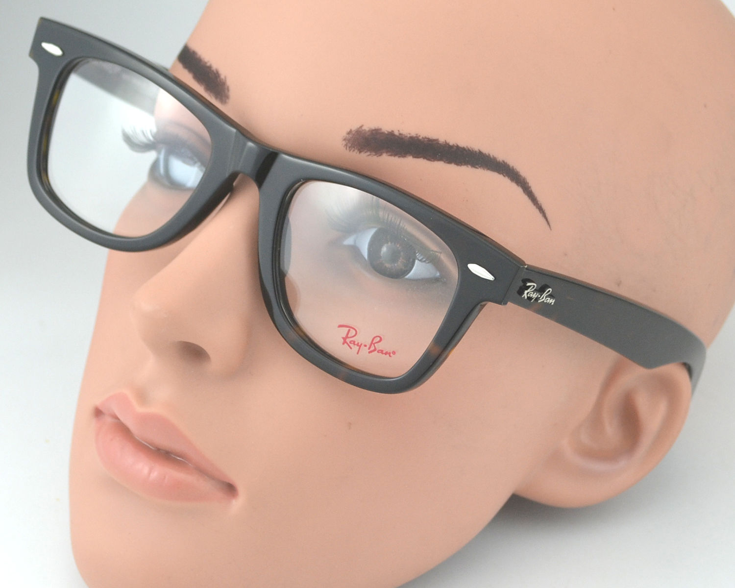 b84d4a1a9a ... czech ray ban rb5121 original wayfarer optics 2012 tortoise frame clear  glass lens optical glasses 50mm