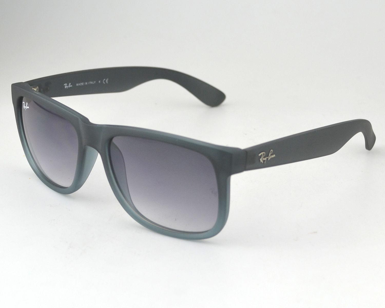 f0afcb6846 Ray-Ban RB4165 Justin Classic 852 88 Rubber Grey Frame  Grey transparent  Lens Sunglasses 55mm