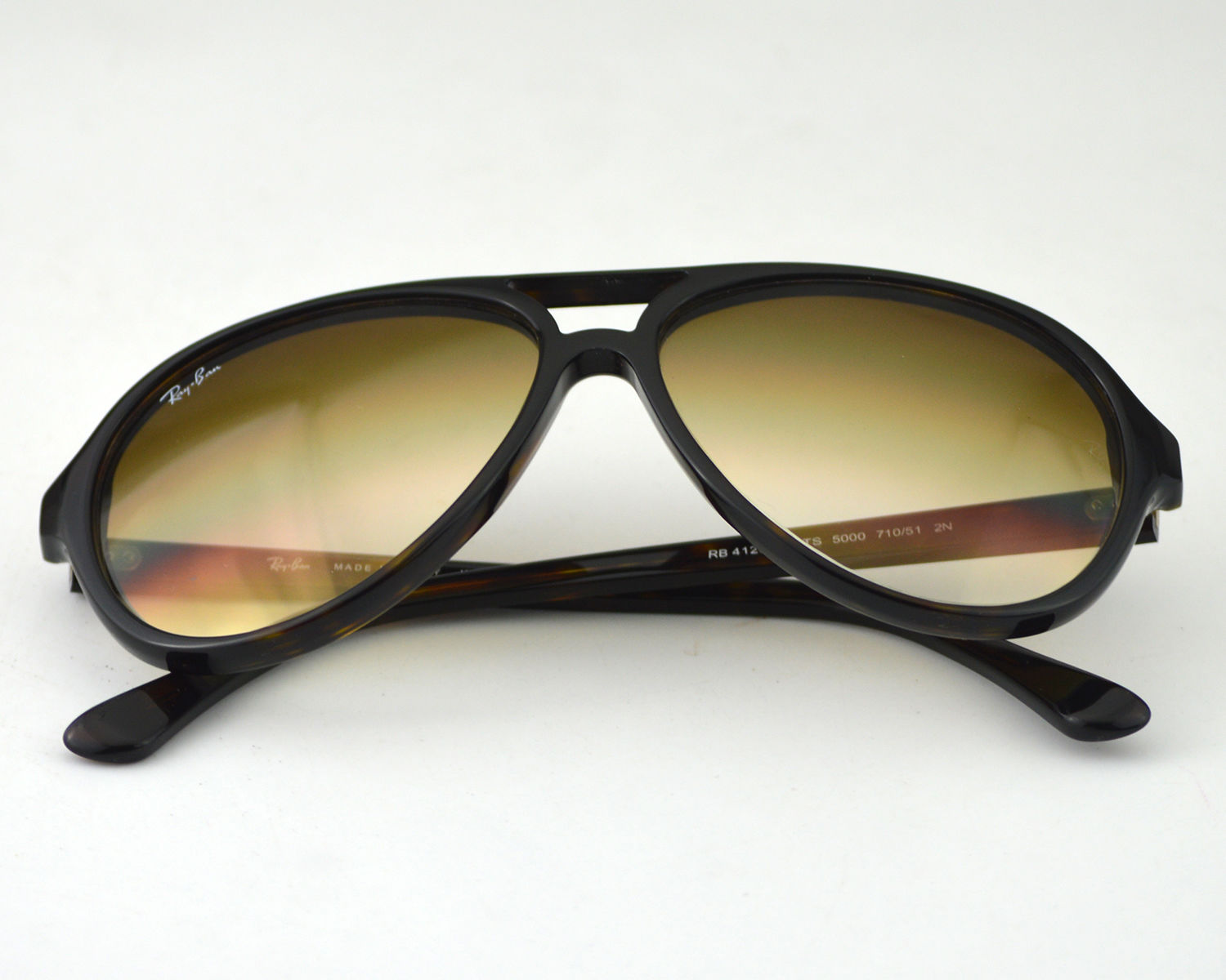 c26667a000e9ab Ray-Ban RB4125 Cats 710 51 Tortoise Acetate Frame Brown Gradient Classic  B-15 Lens Unisex Sunglasses 59mm