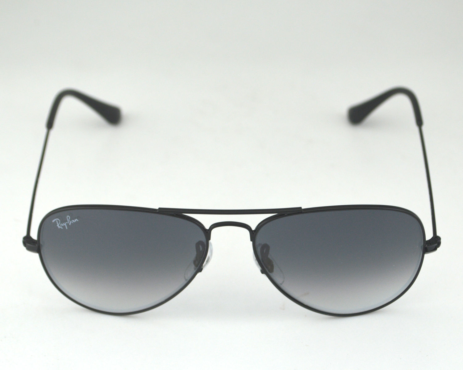 827b3693cf8ee Ray-Ban RB3025 Aviator 002 32 Black Metal Frame Polarized Blue Gray  Gradient Lens Unisex Sunglasses 55mm