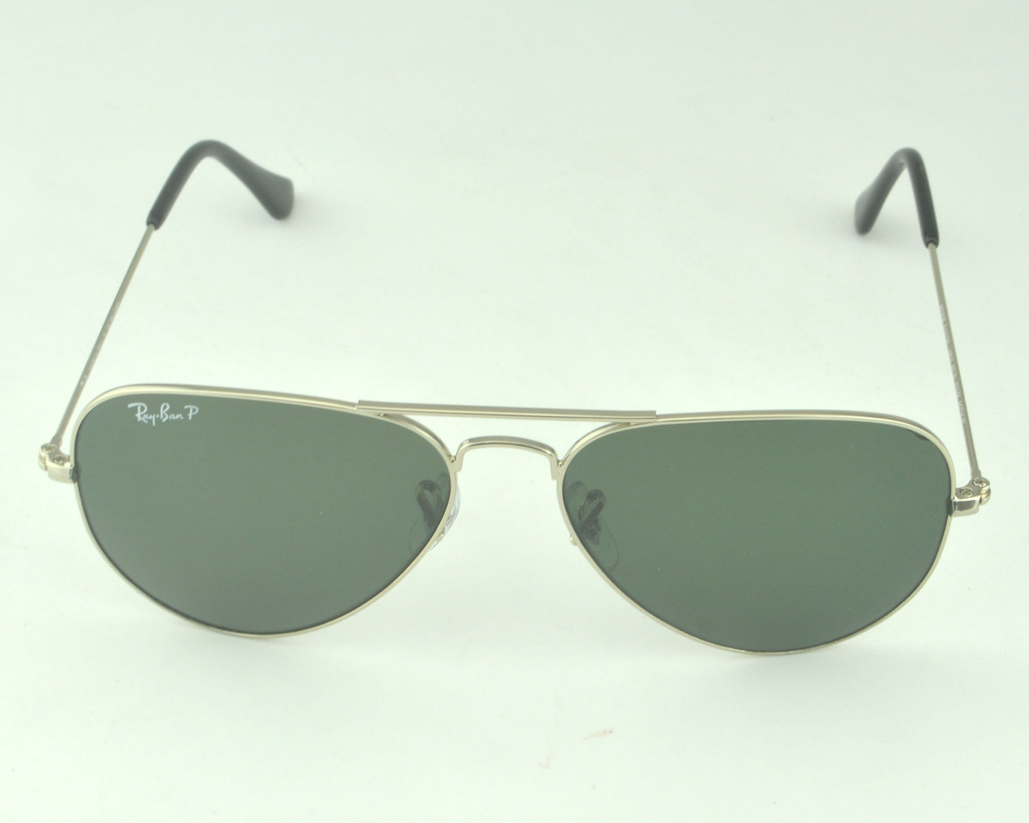 b0f5678f8809 Ray-Ban RB3025 Aviator Large Metal 003 58 Silver Frame Polarized Green  Classic G-15 Glass Lens Unisex Sunglasses 58mm