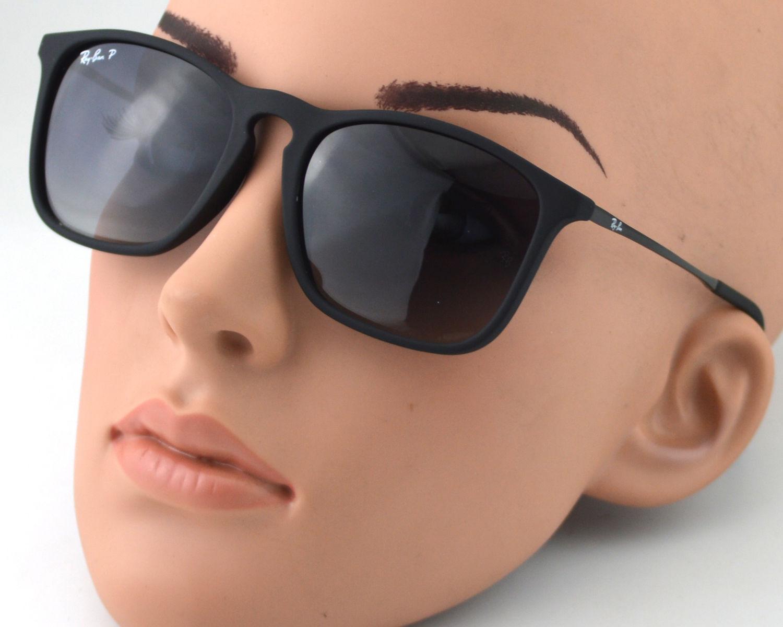 df8ddca359ecd Ray-Ban RB4187 Chris 622 8G Black Frame Light Grey Lens Male Sunglasses 54mm