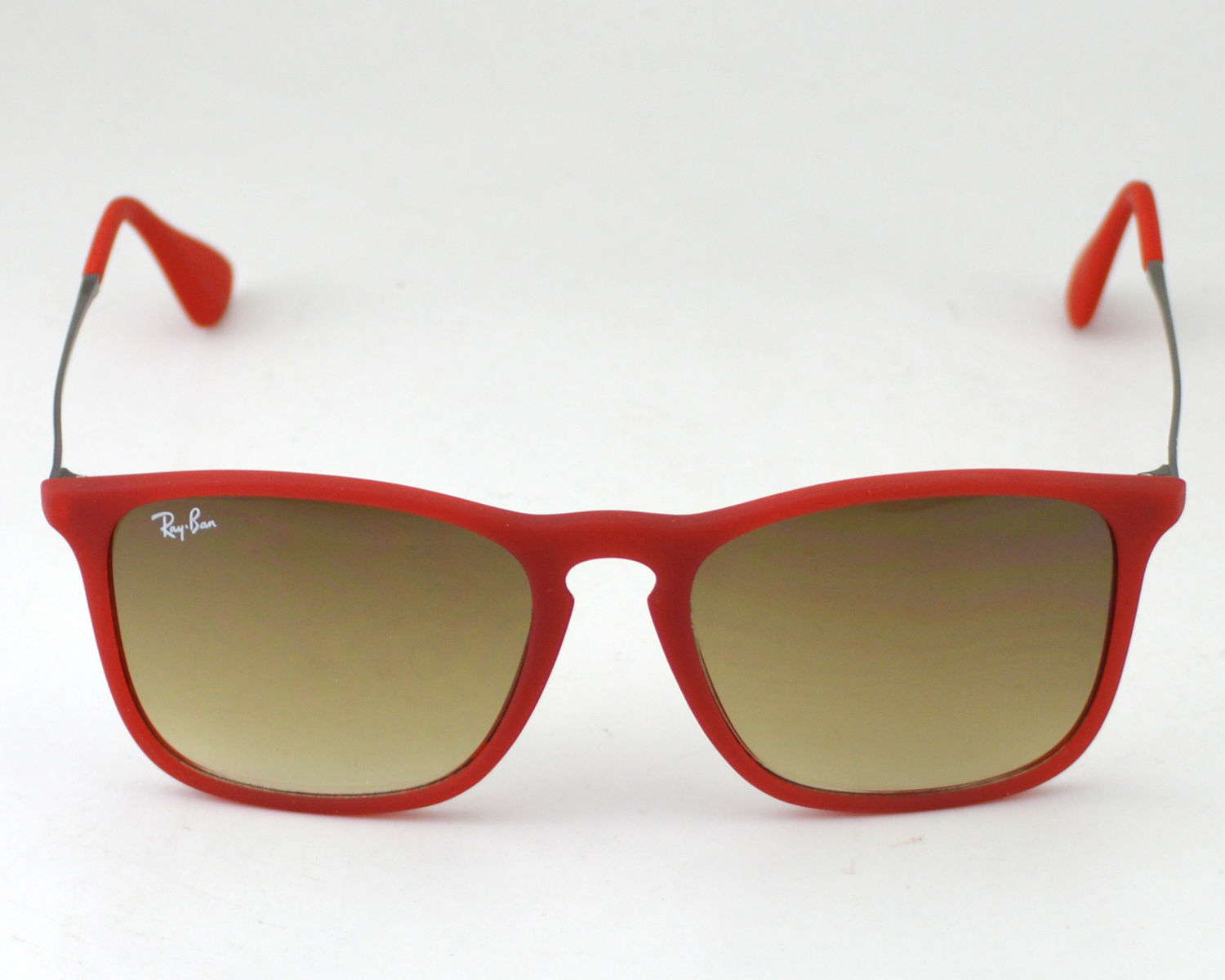 247887a60b1 Ray-Ban RB4187 Chris 898 11 Red Frame Light Brown Lens Male Sunglasses 54mm