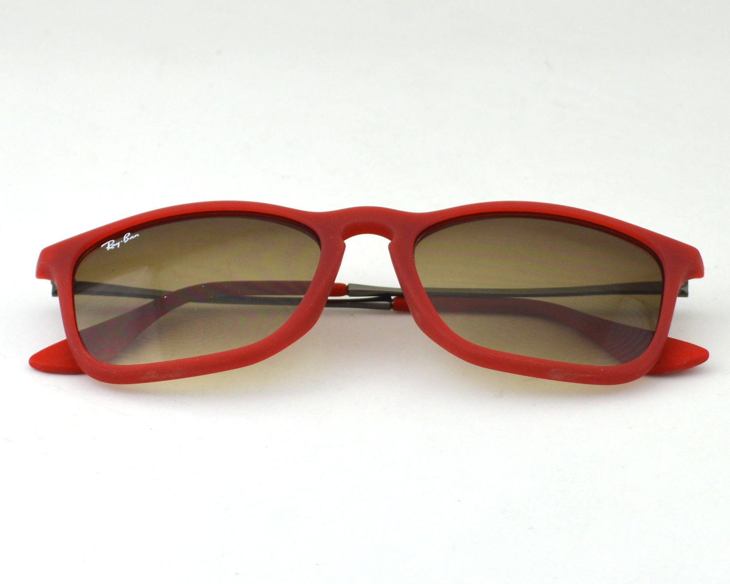 c59eb91fd07 Ray-Ban RB4187 Chris 898 11 Red Frame Light Brown Lens Male Sunglasses 54mm