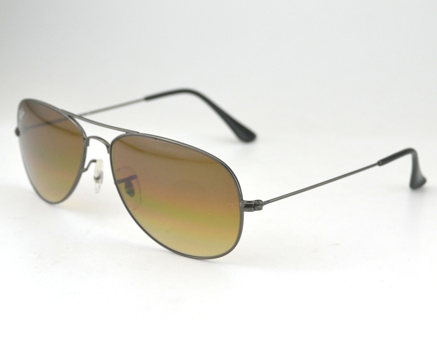 5861845df6 Ray-Ban RB3362 Cockpit 004 51 Gunmetal Frame Brown Glass Lens Male  Sunglasses 56mm