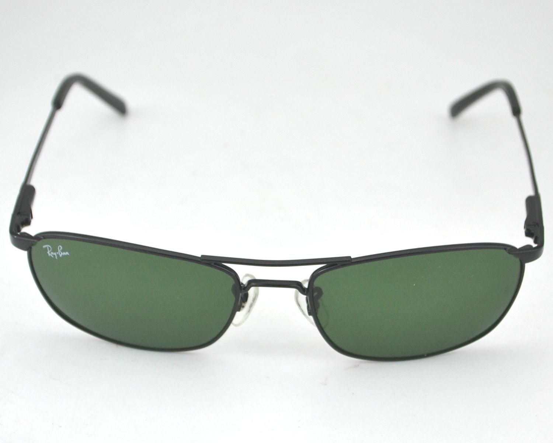 bcd1b168088 Ray-Ban RB3132 006 Black Frame Green Lens Male Sunglasses 56mm