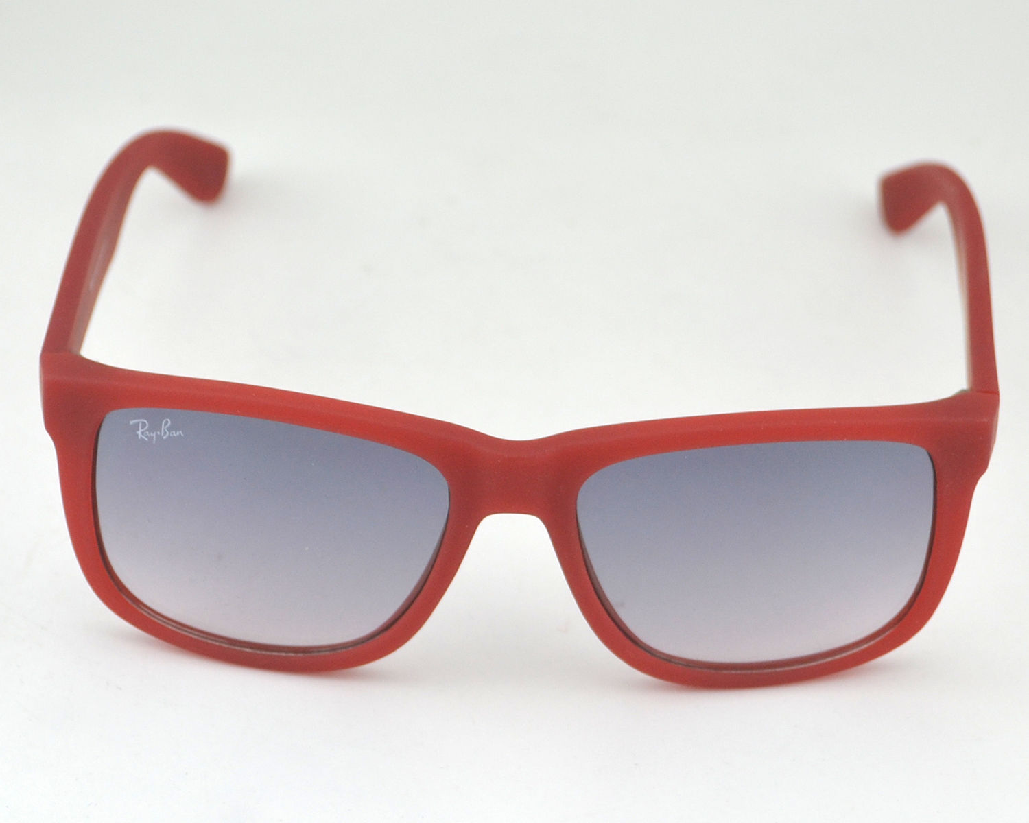 a87a03d24c7 Ray-Ban RB 4165 Justin Classic 6003 5G Red Frame Light Blue Glass Lens  Unisex Sunglasses 53mm