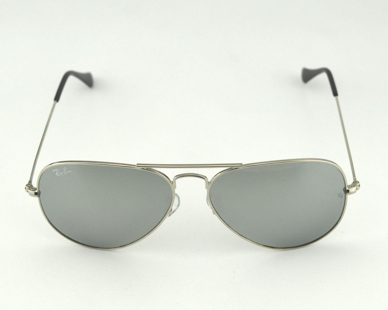 52b9d98fedc Ray-Ban RB 3025 Aviator Mirror W3277 Silver Frame  Silver Mirror Glass Lens  Unisex Sunglasses 58mm