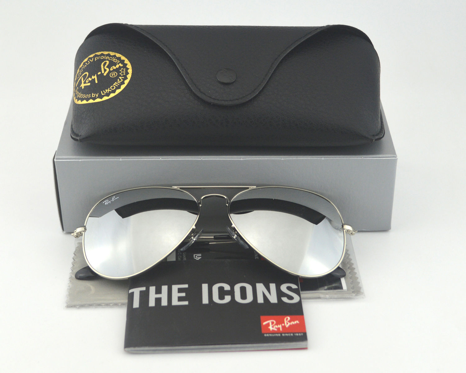 3905b5f592 Ray-Ban RB 3025 Aviator Mirror W3277 Silver Frame  Silver Mirror Glass Lens  Unisex Sunglasses 58mm