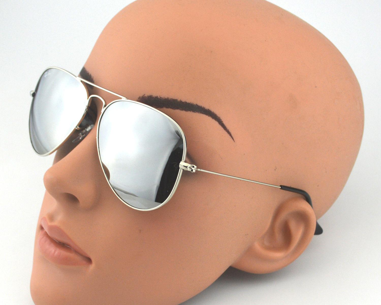 68ebb22598 Ray-Ban RB 3025 Aviator Mirror W3277 Silver Frame  Silver Mirror Glass Lens  Unisex Sunglasses 58mm
