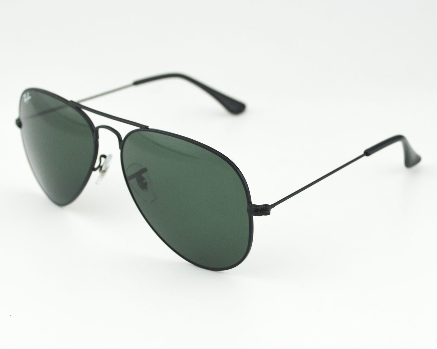 63fe5a9e64 Ray-Ban RB 3025 Aviator Classic Large Metal L2823 Black Frame Green Classic  G-15 Lens Unisex Sunglasses 58mm