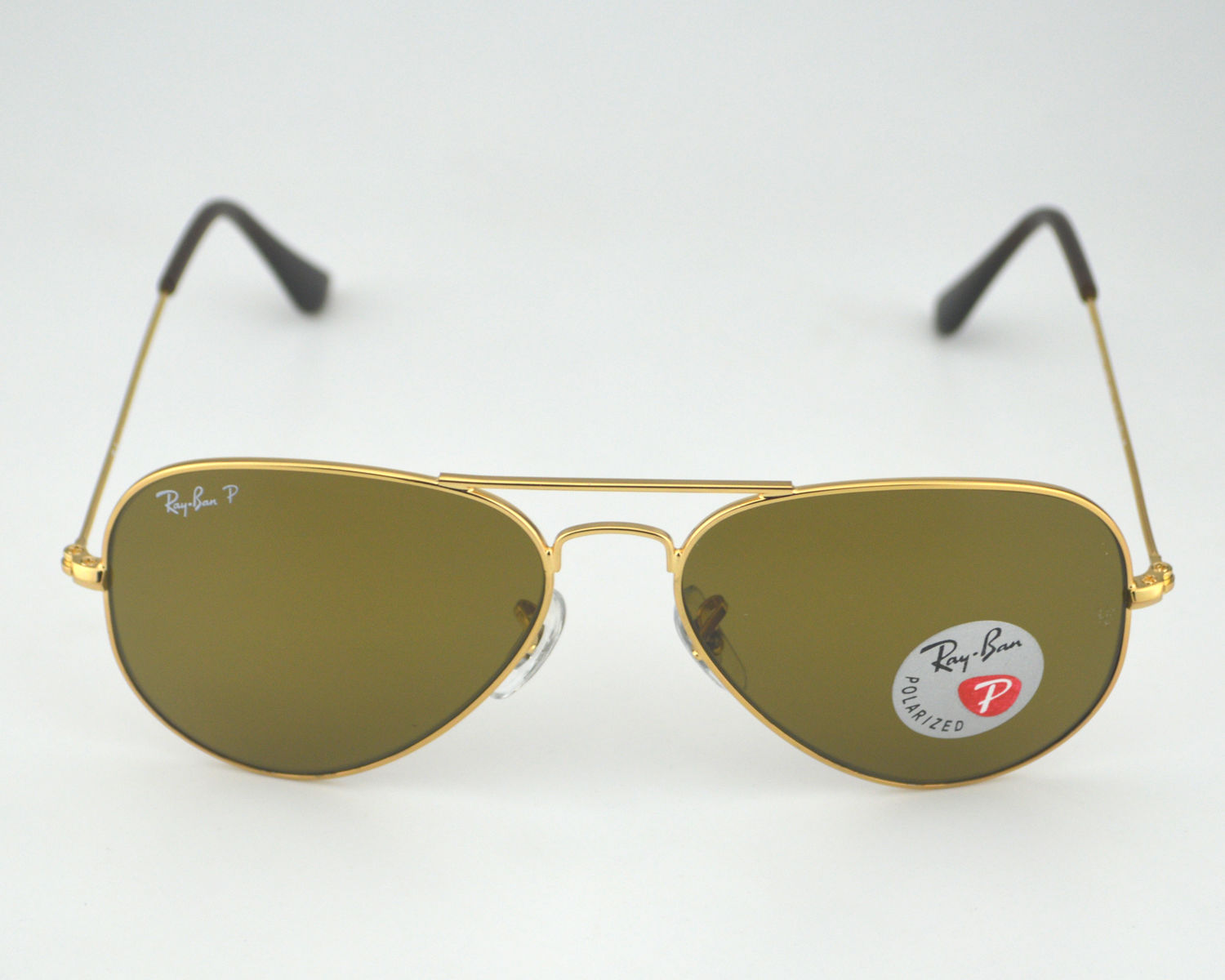 27e88b7508 Ray-Ban RB3025 Aviator Classic 001 57 Gold Frame Polarized Brown Classic  Glass Lens Unisex Sunglasses 55mm